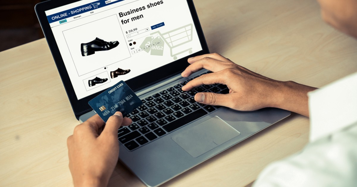 Making an online purchase with a credit card.