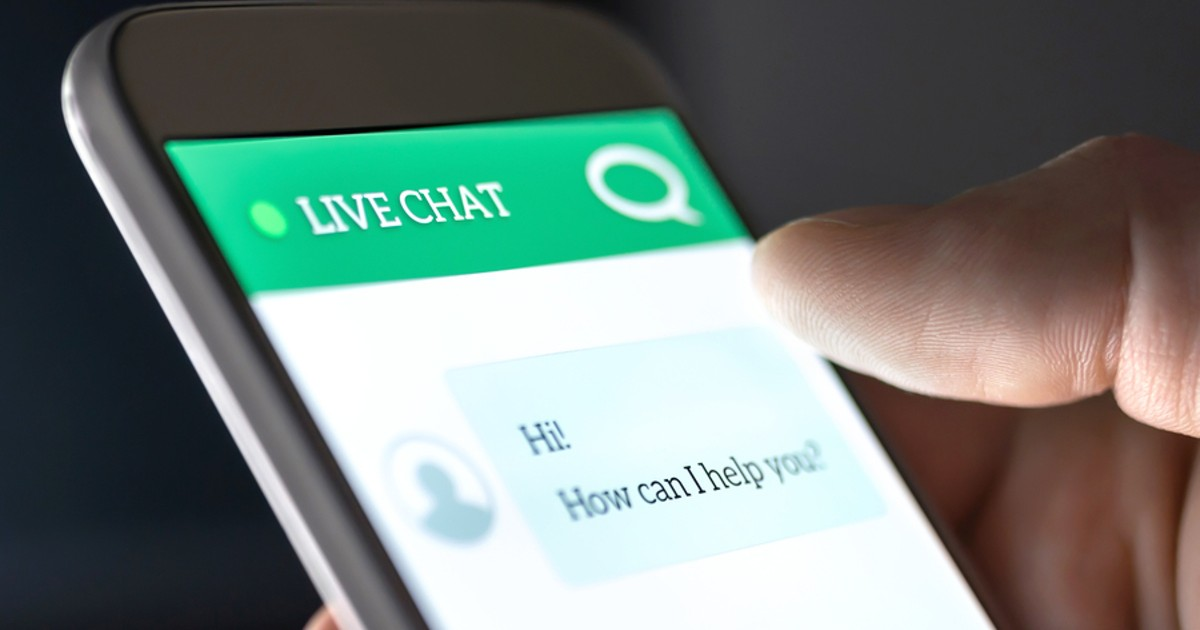 Live chat on phone.